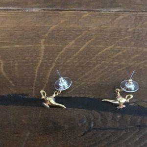 Disney's Aladdin genie lamp earrings
